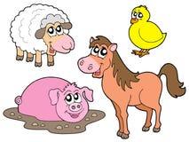 Coleção dos animais do país Fotografia de Stock