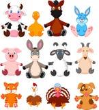 Coleção dos desenhos animados do animal de exploração agrícola Fotografia de Stock Royalty Free