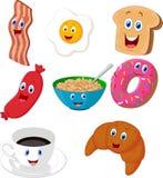 Coleção dos desenhos animados do café da manhã Imagens de Stock Royalty Free