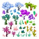 Coleção dos elementos da paisagem dos desenhos animados Foto de Stock Royalty Free