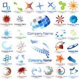 Coleção dos logotipos Foto de Stock Royalty Free