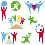 Coleção dos logotipos dos povos Fotografia de Stock