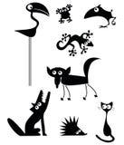 Coleção engraçada dos animais Fotos de Stock Royalty Free