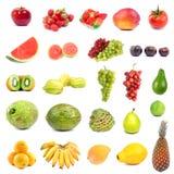 Coleção grande das frutas Fotos de Stock Royalty Free