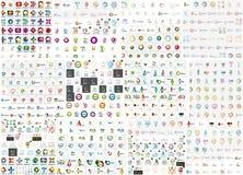 Coleção mega do logotipo Foto de Stock Royalty Free