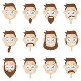 Coleção principal da barba Imagens de Stock