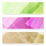 Coleção triangular do pé de página da Web do teste padrão Fotografia de Stock Royalty Free