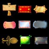 Coleção vazia dos quadros indicadores dos desenhos animados Imagem de Stock Royalty Free