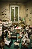Coleção velha privada das bonecas Imagens de Stock Royalty Free