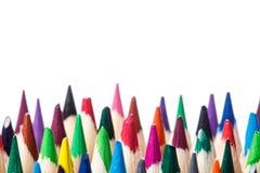 Colered-Zeichenstift, Bleistiftmakrotrieb gegen einen hellen Hintergrund Stockbilder