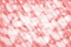 Colerful心脏和桃红色背景 免版税库存照片