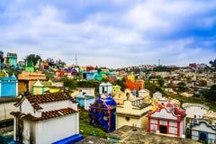 Colerful cmentarz Chichicastenango, Gwatemala - Zdjęcie Stock