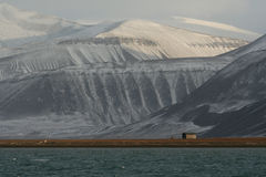 Coles Bay, Spitzbergen. View of Coles Bay near Longyearbyen, Spitzbergen Stock Photo