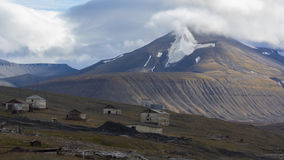 Coles Bay at Svalbard, Spitzbergen. Coles Bay and mountains landscape at Svalbard, Spitzbergen Stock Image