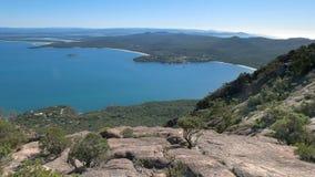 Coles fjärd från mt amos i Tasmanien, Australien royaltyfri fotografi