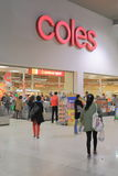 Coles Supermarket Australia. People shop at Coles Supermarket royalty free stock photography