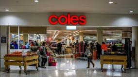 Coles Supermarktopslag Royalty-vrije Stock Foto's