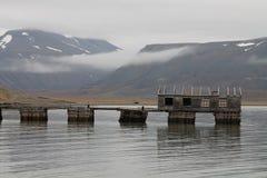 Colesbukta煤炭口岸,斯瓦尔巴特群岛,挪威 库存照片