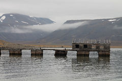 Colesbukta węgla port, Svalbard, Norwegia Zdjęcia Stock