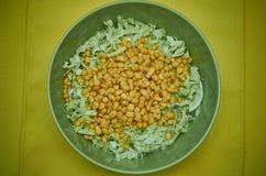 Coleslaw i kukurudza Fotografia Royalty Free