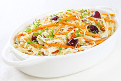 Coleslaw with Olives Royalty Free Stock Images