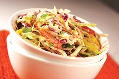 Coleslaw Salad. Bowl of Coleslaw Salad Royalty Free Stock Photography