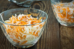 Coleslaw salad with shredded cabbage and carrot Stock Photo