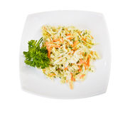 Coleslaw salad top view Stock Image