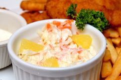Coleslaw serving Royalty Free Stock Photos