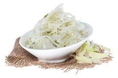 Coleslaw on white Stock Photos