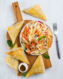 Coleslow salad with pies Royalty Free Stock Image