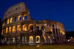 Colesseum by night Royalty Free Stock Photos