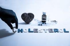 colesterol imagen de archivo libre de regalías