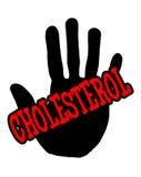 Colesterolo di Handprint Immagini Stock
