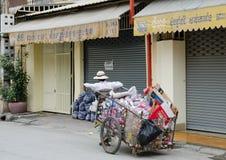 Coletor de lixo Imagem de Stock Royalty Free