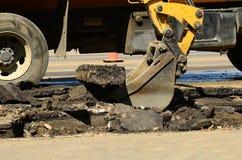 Coletor do asfalto imagens de stock
