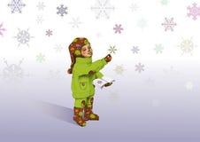 Coletor dos flocos de neve fotos de stock royalty free