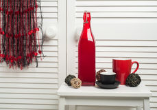 Coletor ideal com as linhas pretas vermelhas Fotos de Stock