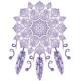 Coletor ideal, proteção, indianos americanos Ornamento sem emenda étnico do vintage tribal abstrato Fotografia de Stock