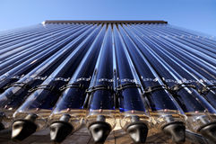 Coletor solar evacuado da câmara de ar Fotografia de Stock