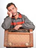 Coletor triste de rádios do vintage fotos de stock