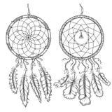 Coletores ideais Símbolo tradicional do nativo americano ilustração royalty free