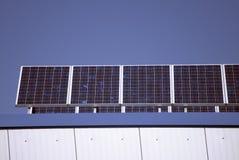 Coletores solares imagens de stock