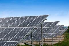 Coletores solares Fotografia de Stock Royalty Free