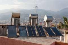 Coletores térmicos solares Imagem de Stock