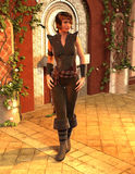 Colette -- Fantasy Female Medieval Ranger Scout Royalty Free Stock Images
