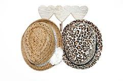 Colgante de dos sombreros Imagen de archivo libre de regalías