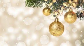Colgante de las bolas de la Navidad Fotografía de archivo libre de regalías