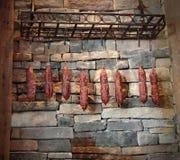 Colgante de las salchichas Imagenes de archivo
