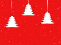 Colgante de los árboles de navidad Foto de archivo libre de regalías
